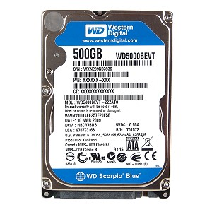 500 GB Laptop Sata HDD 2,5″